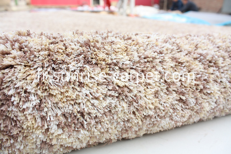 Microfiber Shaggy Space Dyed Yarn Rug